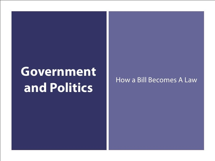Government     How a Bill Becomes A Law and Politics