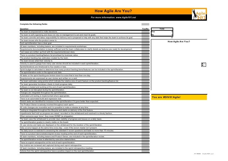 How Agile Are You?                                                                                          For more infor...