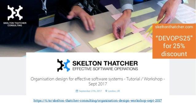 Organisation design for effective software systems Tutorial / Workshop Weds 27 Sept 2017, London https://ti.to/skelton-tha...