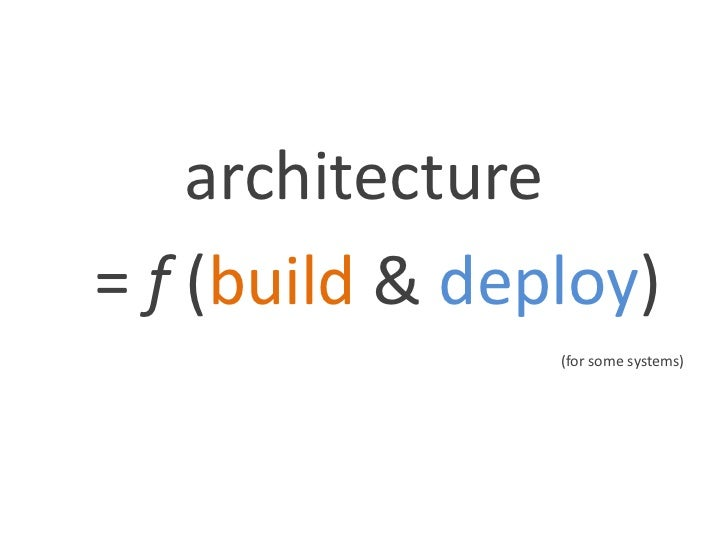 How build and deployment should shape software architectures Slide 3