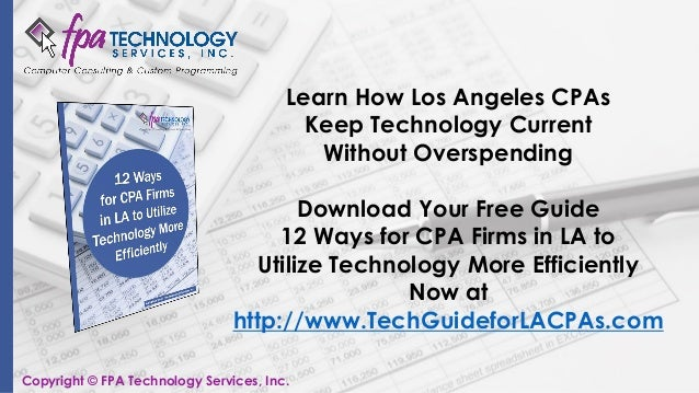 How CalCPA Benefits Los Angeles Accountants (SlideShare)