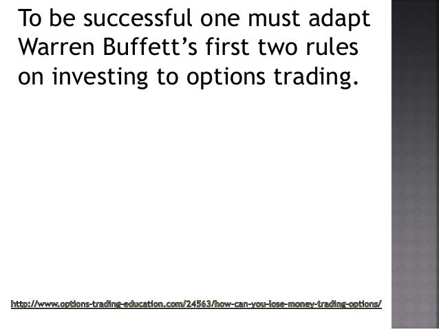 Options trading lose money