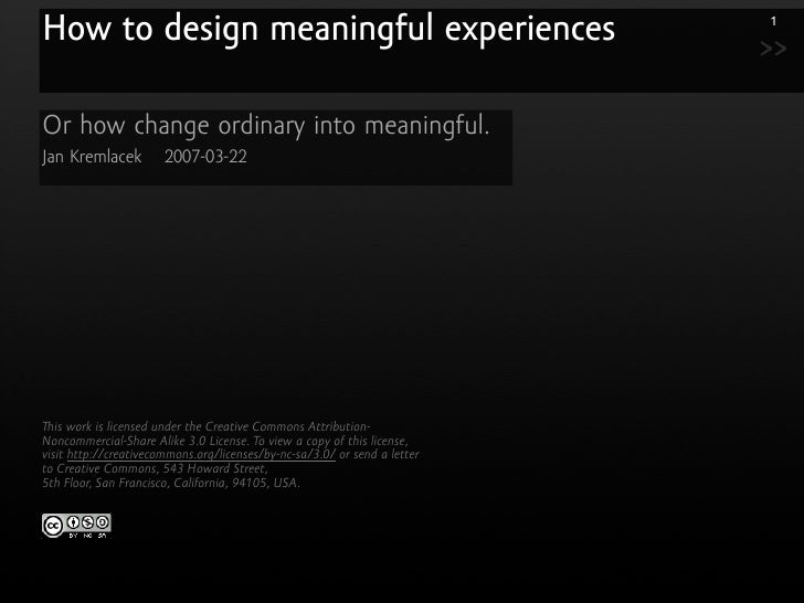 How to design meaningful experiences                                       1                                              ...