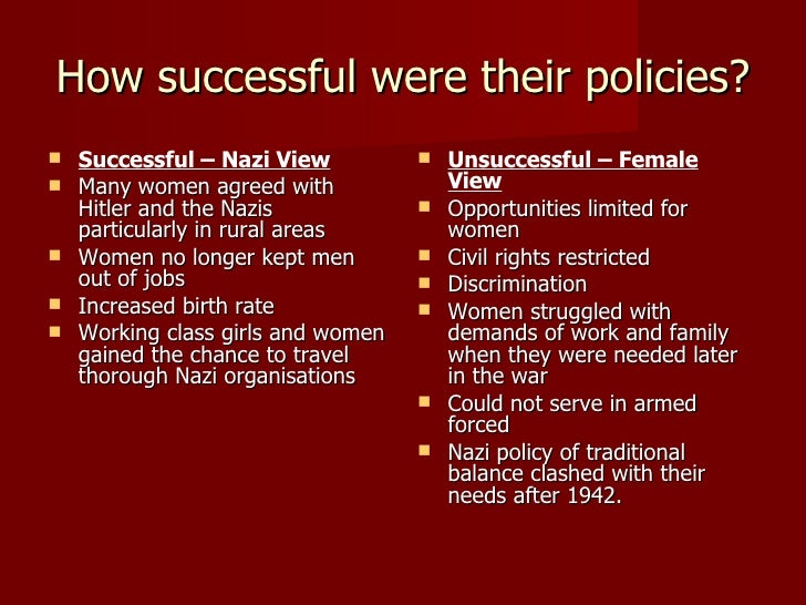 women in nazi germany thesis