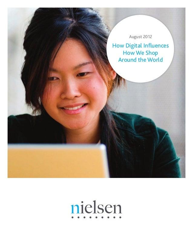 August 2012How Digital InfluencesHow We ShopAround the World