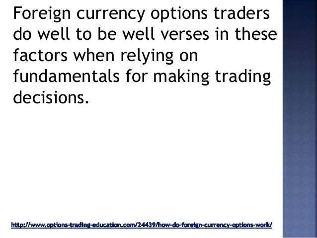 How do fx options work