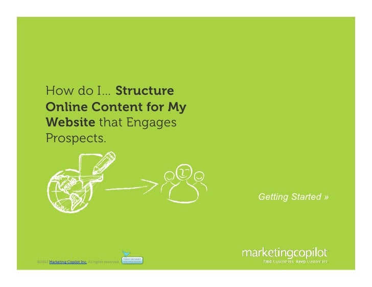 How do I… Structure     Online Content for My     Website that Engages     Prospects.                                     ...