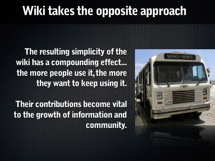 How do you grow wiki use? Slide 3