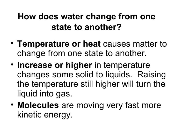 How Does Matter Change From One State To 9