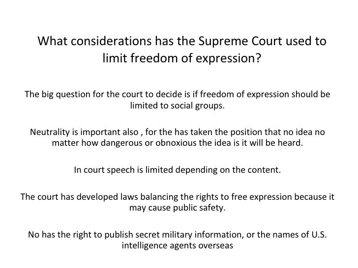 reasons freedom of speech should be limited