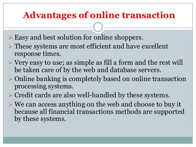 How online-transaction affects business enviroment