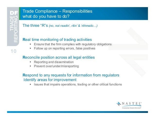 Trade reporting and compliance system