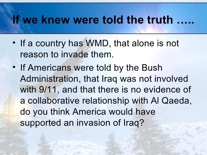 the bush administration and iraq essay Gw bush administration jun 18, 2014 postscript iraq syndrome redux american foreign policy, routinely decorated with extravagant alarmism over the last dozen years or so, has been an abject failure.