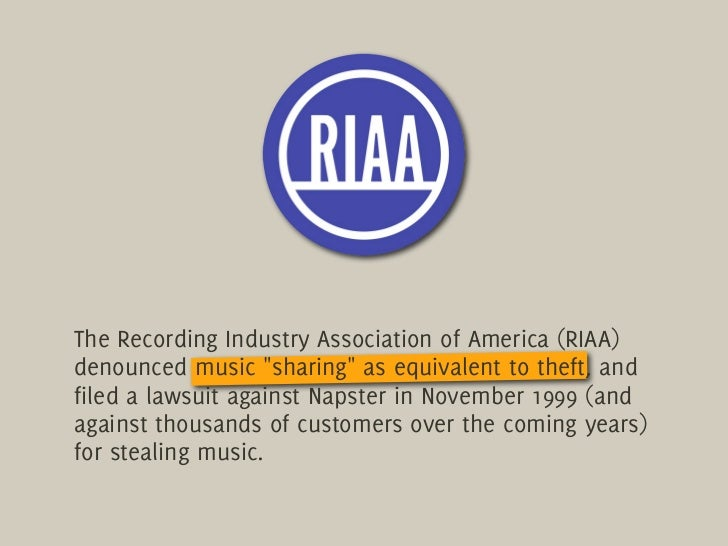 an overview of the complaint of recording industry association against napster The subject of complaint is a description of the person or entity against whom the complaint is filed among the categories of complaint subjects are active licensed insurance companies, third party administrators, insurance agencies, agents, and adjusters.