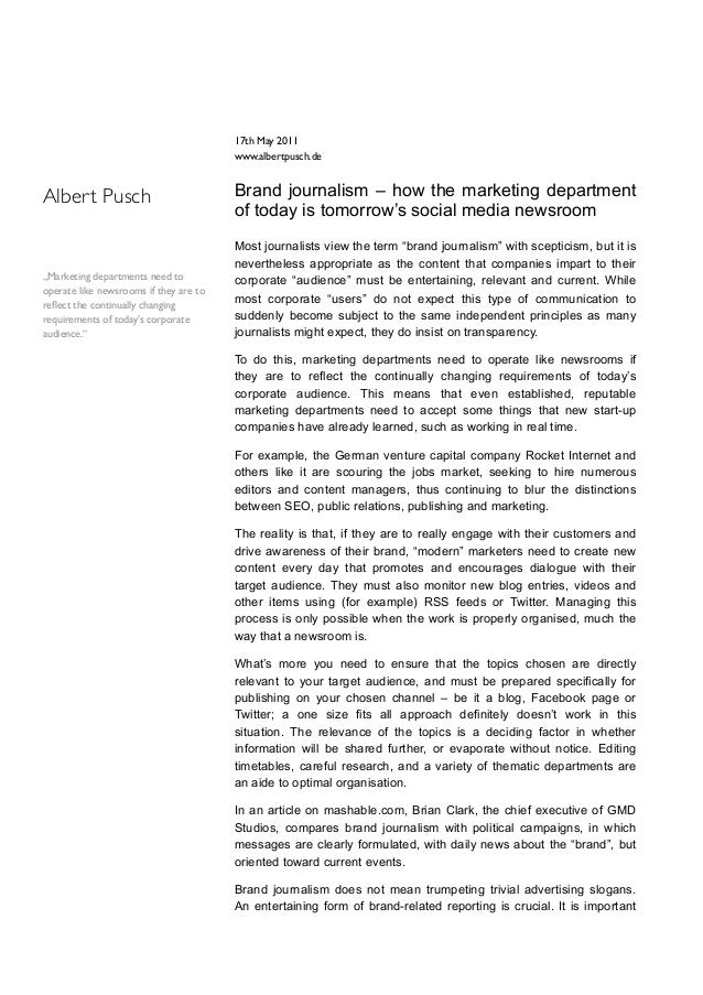 17th May 2011                                        www.albertpusch.deAlbert Pusch                            Brand journ...