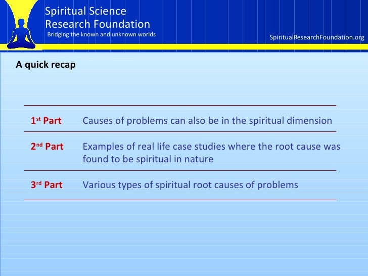 How the spiritual dimension affects our lives  Part 3 of 3 Slide 2