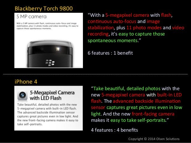 """""""With  a  5-‐megapixel  camera  with  flash,  con7nuous  auto-‐focus  and  image  stabiliza7on,  plus  11  photo  modes ..."""