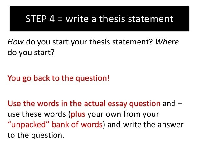 using a question in an essay Think of the essay as not only an answer to a specific question but as an opportunity to introduce yourself, especially if your program doesn't interview applicants ask yourself the following questions as you edit for content.