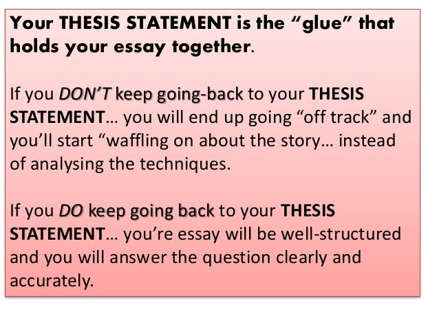 do all essays have a thesis