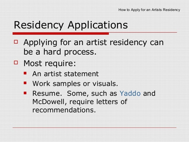 How to apply to artist residencies 3 spiritdancerdesigns Choice Image
