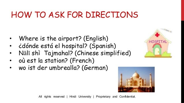 How To Ask For Directions In Hindi