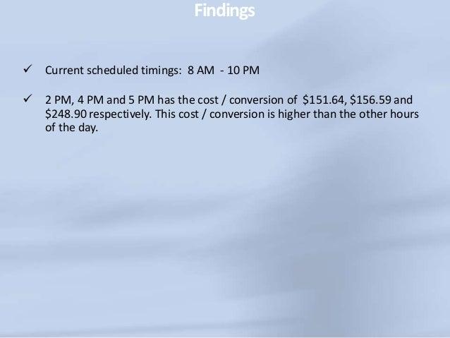 GeographicStats(cont) Region Clicks Impressions Cost Conv. (1-per-click) Cost / conv. (1-per- click) Michigan 408 27,708 3...