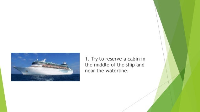 How To Avoid Sea Sickness - Where to stay on a cruise ship to avoid seasickness