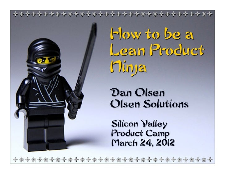 +*+*+*+*+*+*+*+*+*+*+*+*+*+*+*+*+                How to be a                Lean Product                Ninja             ...