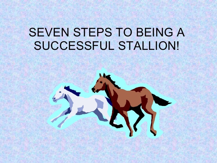 SEVEN STEPS TO BEING A SUCCESSFUL STALLION!
