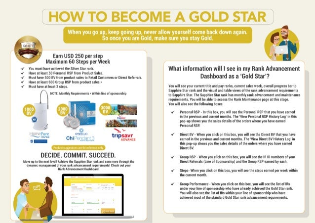 How To Become A Gold Star At QNET