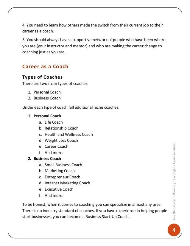 life coach job description