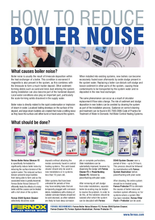 how to reduce boiler noise