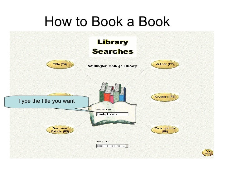 How to Book a Book Type the title you want