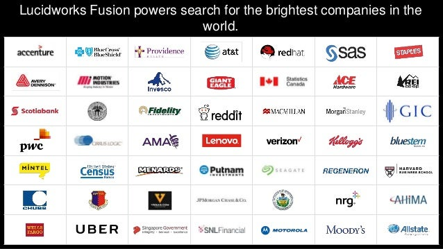 Lucidworks Fusion powers search for the brightest companies in the world.