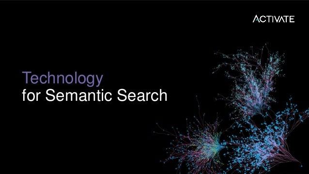 Semantic Search Components: • Apache Solr • Solr Text Tagger • Semantic Knowledge Graph • Statistical Phrase Identifier • ...