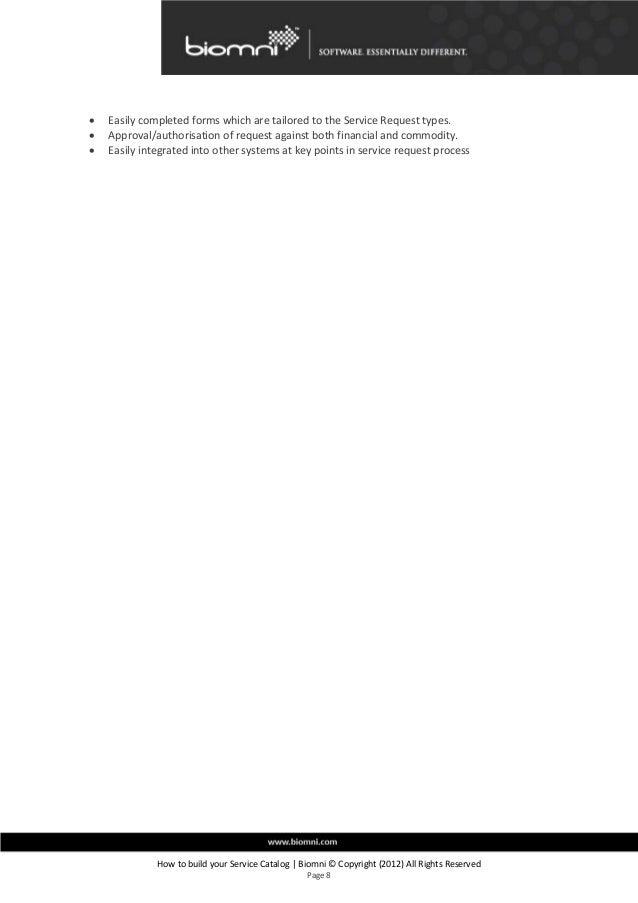 how to build a service catalog