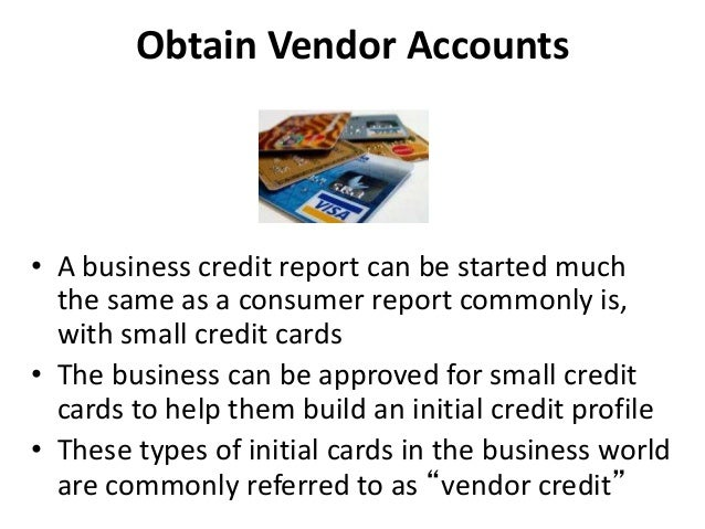 How to build business credit that is not in your ssn 42 obtain vendor accounts a business credit reheart Images