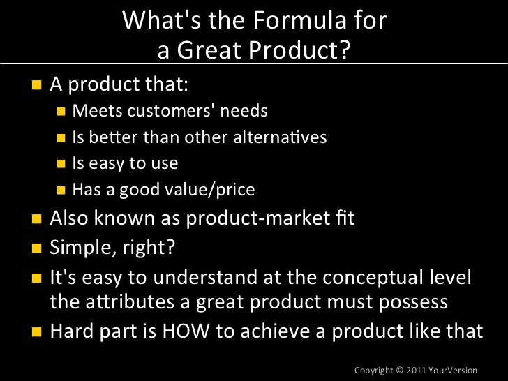 how to build great products by dan olsen