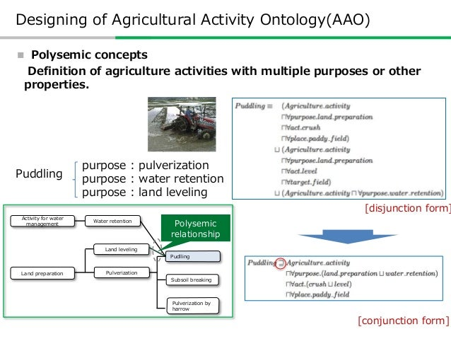  Synonym Designing of Agricultural Activity Ontology(AAO) Expressions in multiple languages are also represented as synon...