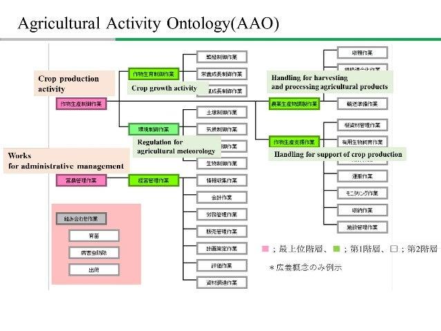  Formalization by Description Logics Crop production activity Crop growth activity purpose:crop production purpose:crop g...