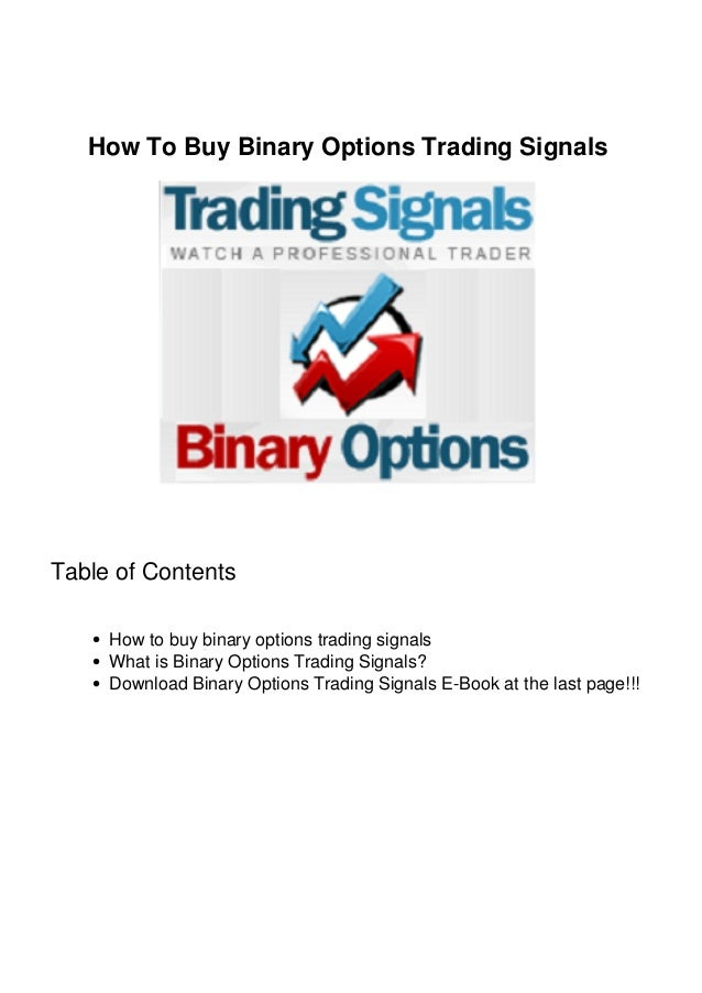 My binary option trading signals
