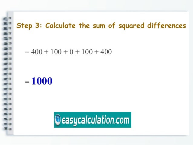 How to calculate standard deviation easycalculation ccuart Choice Image