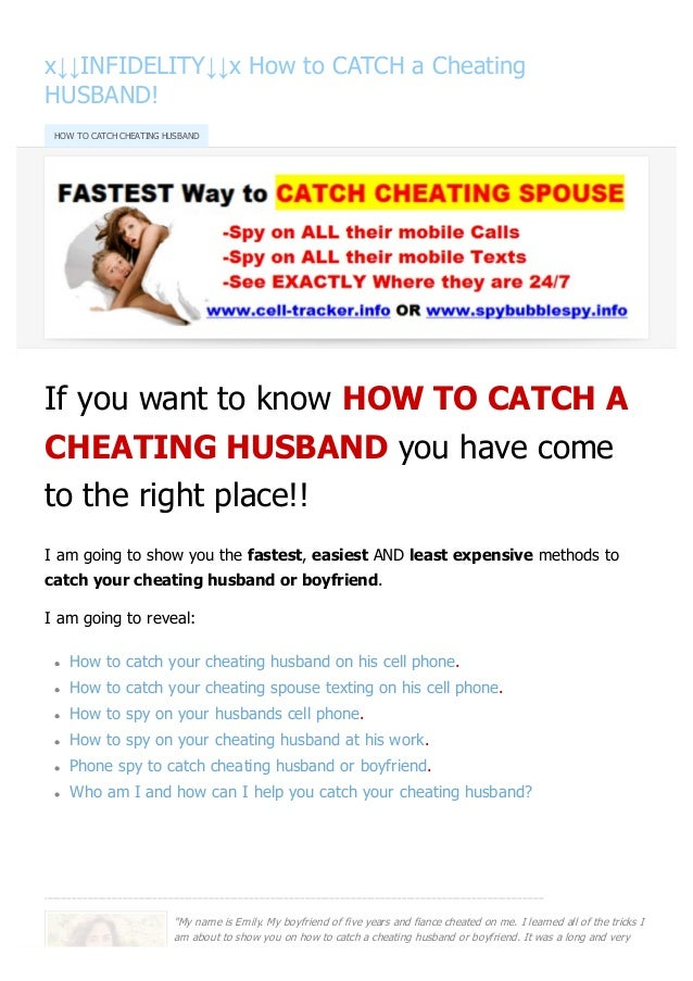 ways to catch a cheating husband