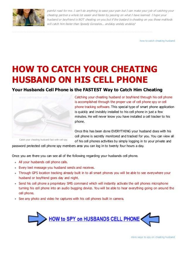how do i catch a cheating husband