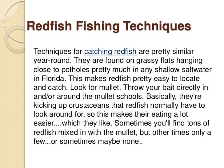 how to catch redfish in the gulf
