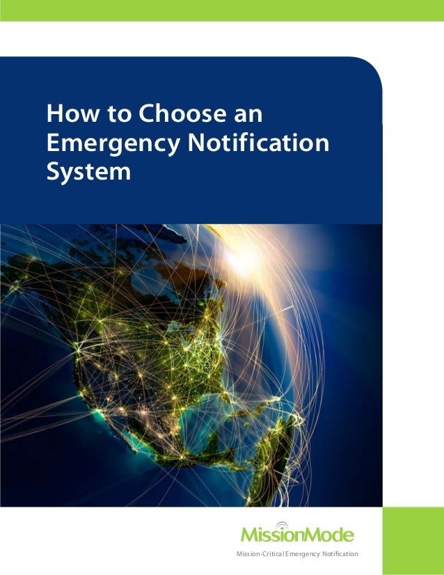 How to Choose an Emergency Notification System  Mission-Critical Emergency Notification