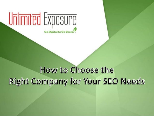What Do You Need?  Before choosing a local SEO company, you will need to decide what you want to achieve with SEO service...