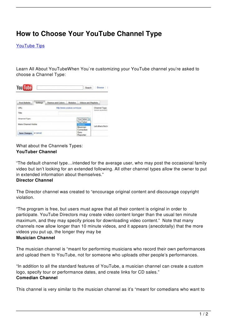 How to choose your youtube channel type how to choose your youtube channel typeyoutube tipslearn all about youtubewhen youre customizing your ccuart Gallery