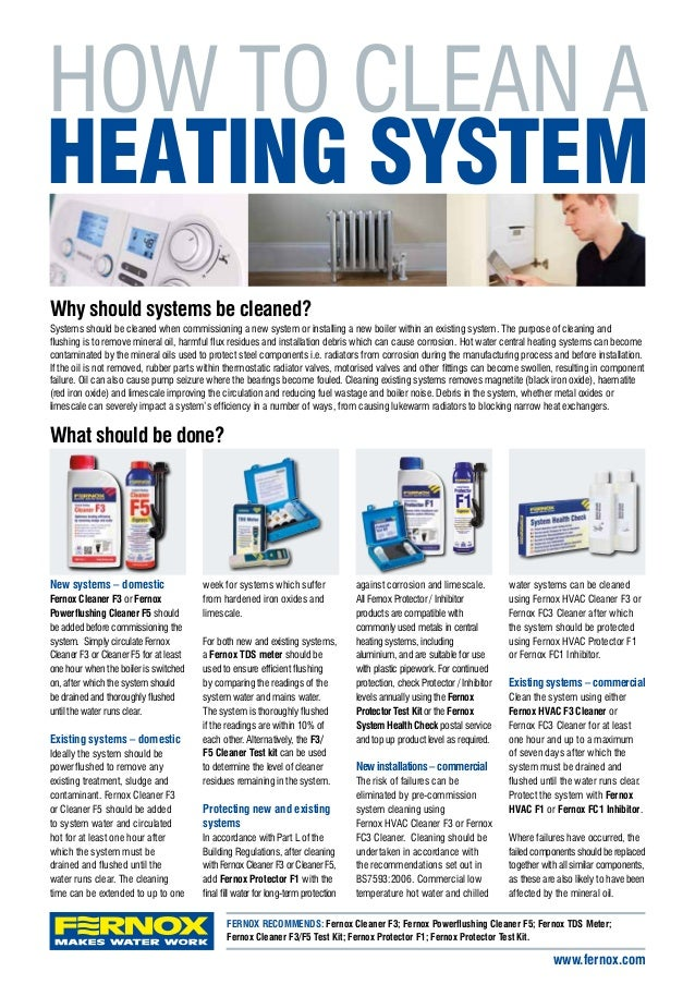 How To Clean A Central Heating System