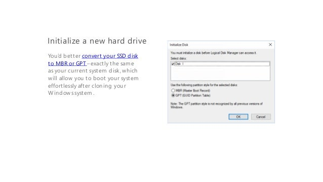Clone a Hard Drive to an SSD Disk in Windows 10 without